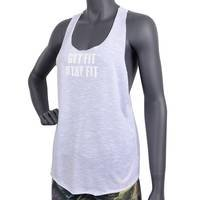 Fitnesstukku Tank Top, Loose Fit, White, FITNESSTUKKU