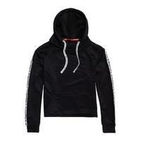 Fashion Fitness Crop Hood, Black