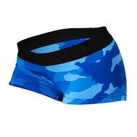 Fitness Hotpant, Blue Camo