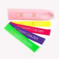 Booty Builder Mini Bands, Pink, 4-Pack, Booty builder
