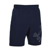 UA 8 Woven Graphic Short, Midnight Navy, M