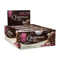 12 x Quest Bar, 60g, Chocolate Brownie kort datum, Quest Nutrition