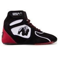 Chicago High Tops, Black/White/Red, 39, Gorilla Wear