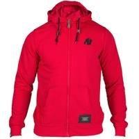 Classic Zipped Hoodie, Red, M, Gorilla Wear