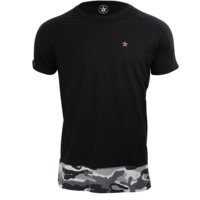 Star Premium Raglan Tee, Camo/Black, L, Star Nutrition Gear