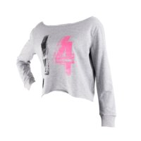 Star Premium Womens Crop Sweat, Grey, L, Star Nutrition Gear