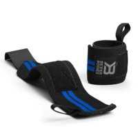 Elastic Wrist Wraps, Black/Blue, Better Bodies Gear