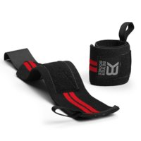 Elastic Wrist Wraps, Black/Red, Better Bodies Gear