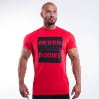 Casual Tee, Bright Red, Better Bodies Men