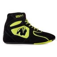 Chicago High Tops, Black/Neon Lime, 38, Gorilla Wear