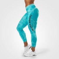 Gracie Curve Tights, Aqua Print, XS, Better Bodies Women