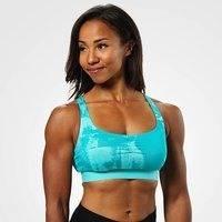 Fitness Short Top, Aqua Print