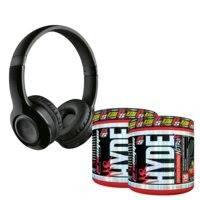 2 x Mr. Hyde Nitro X + Bluetooth headphones, Pro Supps