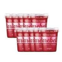 10 x Barebells Protein Pudding, 200g, Strawberry Supreme Lyhyt päiväys