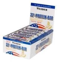 24 x 32% Protein Bar, 60 g, Cookies & Cream Lyhyt päiväys