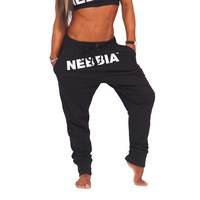 Nebbia Drop Crotch Pants, Black