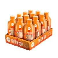 12 x Protein Soda, 375 ml, Orange, Lyhyt päiväys, Star Nutrition