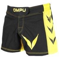 OMPU MMA Shorts Attitude, black/yellow, OMPU Wear