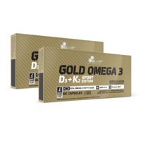 2 x Gold Omega 3 D3+K2 Sport Edition, 60 caps, Olimp Sports Nutrition