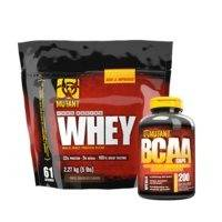 Mutant Whey, 2,27 kg + BCAA, 200 caps