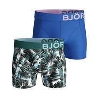 2-Pack BB Summer Palm Sammy Shorts, Brilliant White, XL