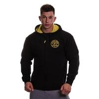 Golds Gym Muscle Joe Zip Through Hoodie, black, M