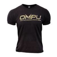 OMPU Logo Tee, Vintage Black, OMPU Wear