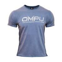OMPU Logo Tee, Vintage Steel Blue, L, OMPU Wear