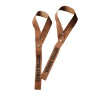 1,5 Inch Leather Straps, brown, one size