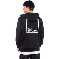Blue tomato bt authentic backprint zip hoody musta, blue tomato