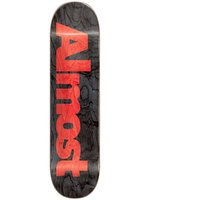 Almost ultimate logo r7 8.5 skateboard deck musta, almost