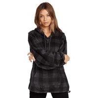Volcom straight zipn hoodie musta, volcom