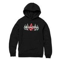 Volcom supply stone hoodie musta, volcom