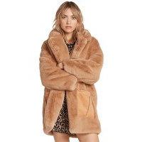 Volcom Phewfur Coat ruskea