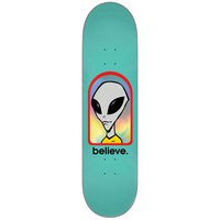 Alien workshop believe 8.0 skateboard deck kuviotu, alien workshop