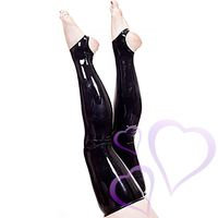 Latex Stockings With Open Feet, musta
