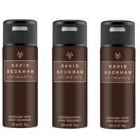 David Beckham - 3x Intimately Deodorant Spray 150 ml