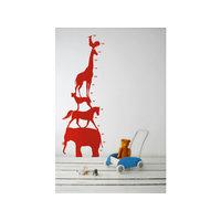 Ferm Living Animal Tower seinätarra, punainen, Ferm Living