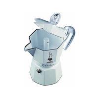 Bialetti 3 kupin Moka Express Glossy White Ceramica espressokeitin, Bialetti