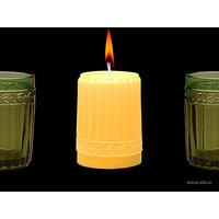 Aihio Kara kynttilä, keltainen, Aihio