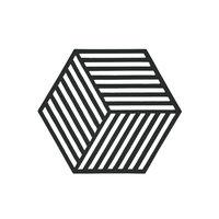Zone Denmark Hexagon pannunalunen, musta, Zone
