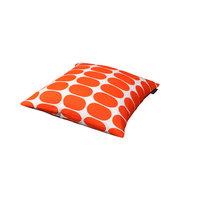 Mette Ditmer Ellipse-tyynynpäällinen, 45 x 45 cm oranssivalkoinen, Mette Ditmer