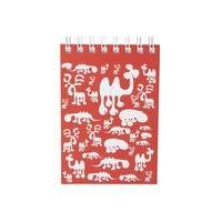 Brands Scandinavia Zoo Block muistikirja, A6 punainen, Brands Scandinavia