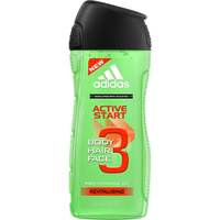 3 in 1 Active Start Shower Gel, 250ml Adidas Suihkugeelit