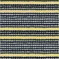 Räsymatto kangas keltainen-musta, Marimekko