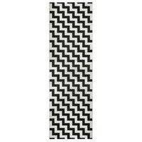 Gunnel matto musta 70x250 cm