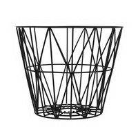 Wire kori musta keskikokoinen 50 x 40 cm