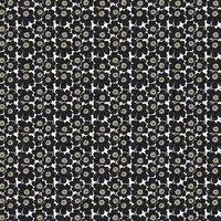 Mini Unikko kangas musta