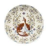 Taika syvä lautanen 22 cm valkoinen kuvioitu