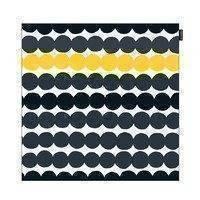 Räsymatto tyynynpäällinen musta-harmaa-keltainen, Marimekko